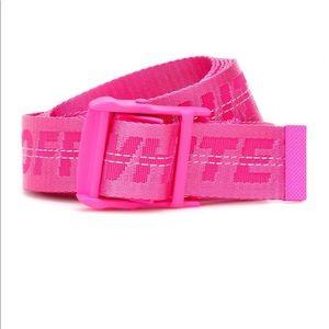 pink off white belt